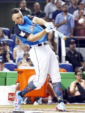 ホームランダービーで初優勝を飾ったヤンキースのアーロン・ジャッジ外野手(AP)