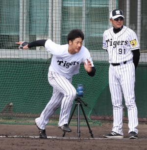 2017年阪神春季キャンプの横田慎太郎(2017年2月3日)