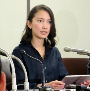 元TBS記者の山口敬之氏からのレイプ被害について会見する詩織さん(撮影・三須一紀)